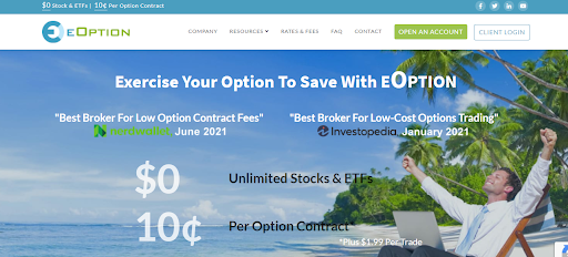 eOption website home page